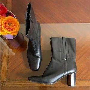 Nine West Nwealene Leather Heeled Boots